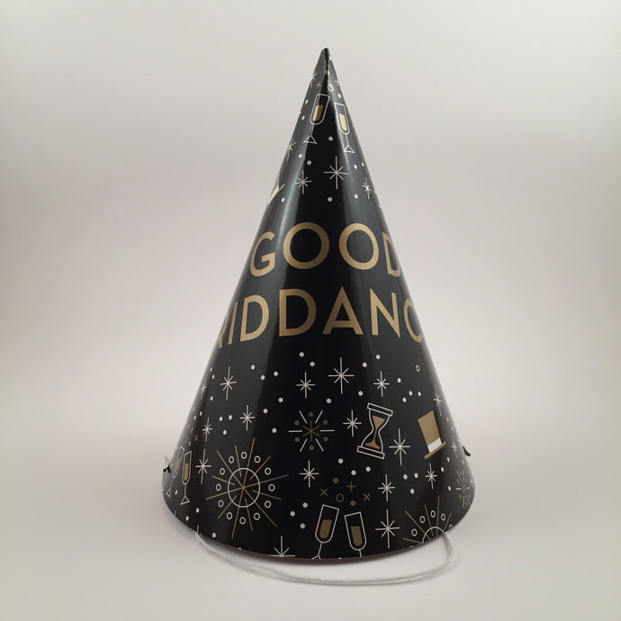 The Gatsby. Set of 10 Good Riddance party hats