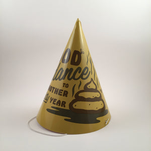 The Shit. Set of 10 Good Riddance party hats