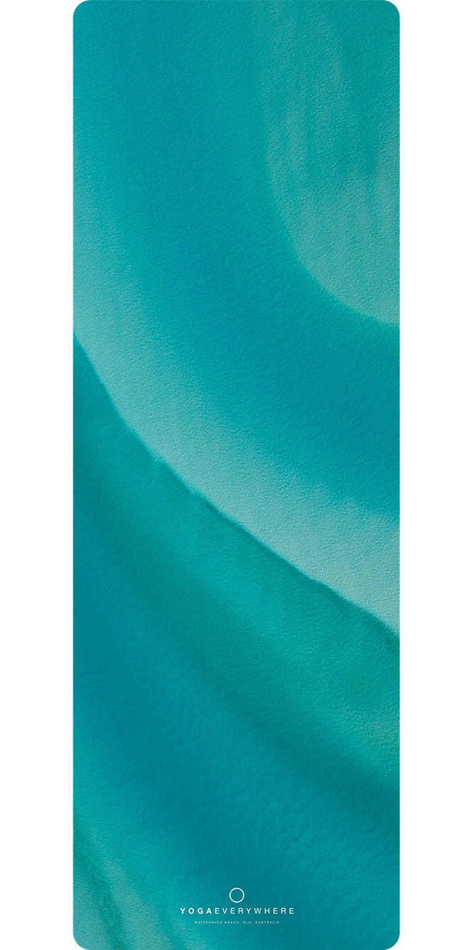 Whitehaven Beach Swirl Yoga Mat