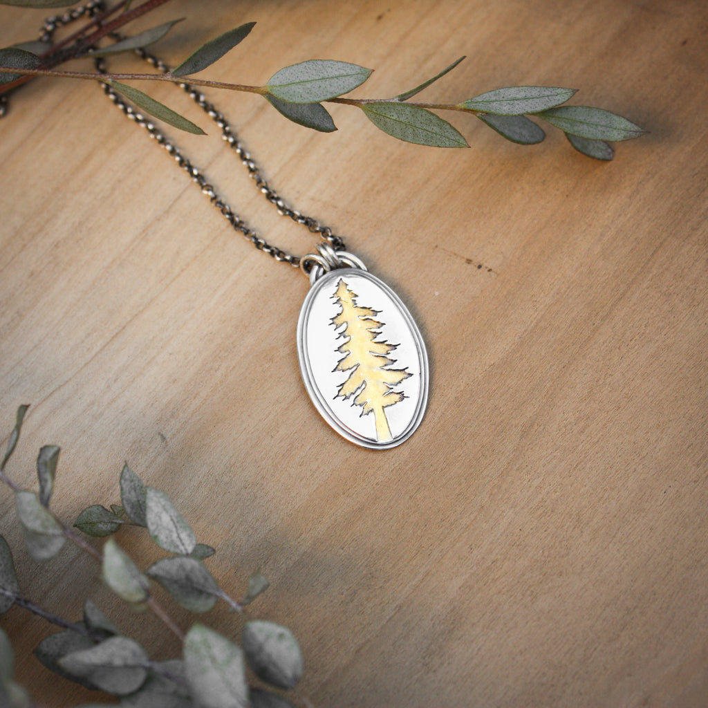 Gold Accented Layered Tree Necklace