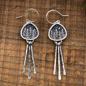 Forest Miniscape Dangle Earrings
