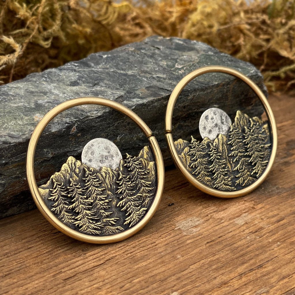 Alpine Moon 10 Gauge Earrings