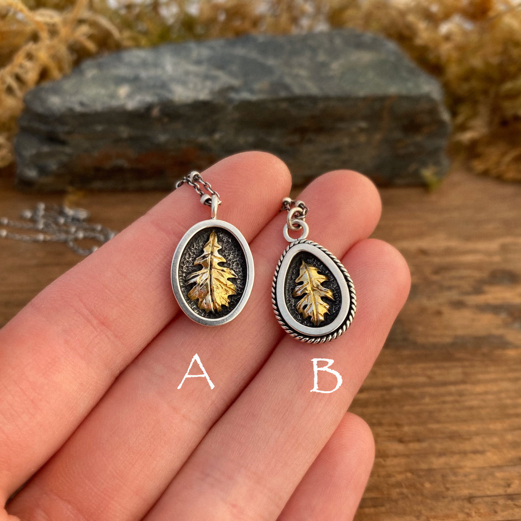 Oak Leaves With Gold Accents
