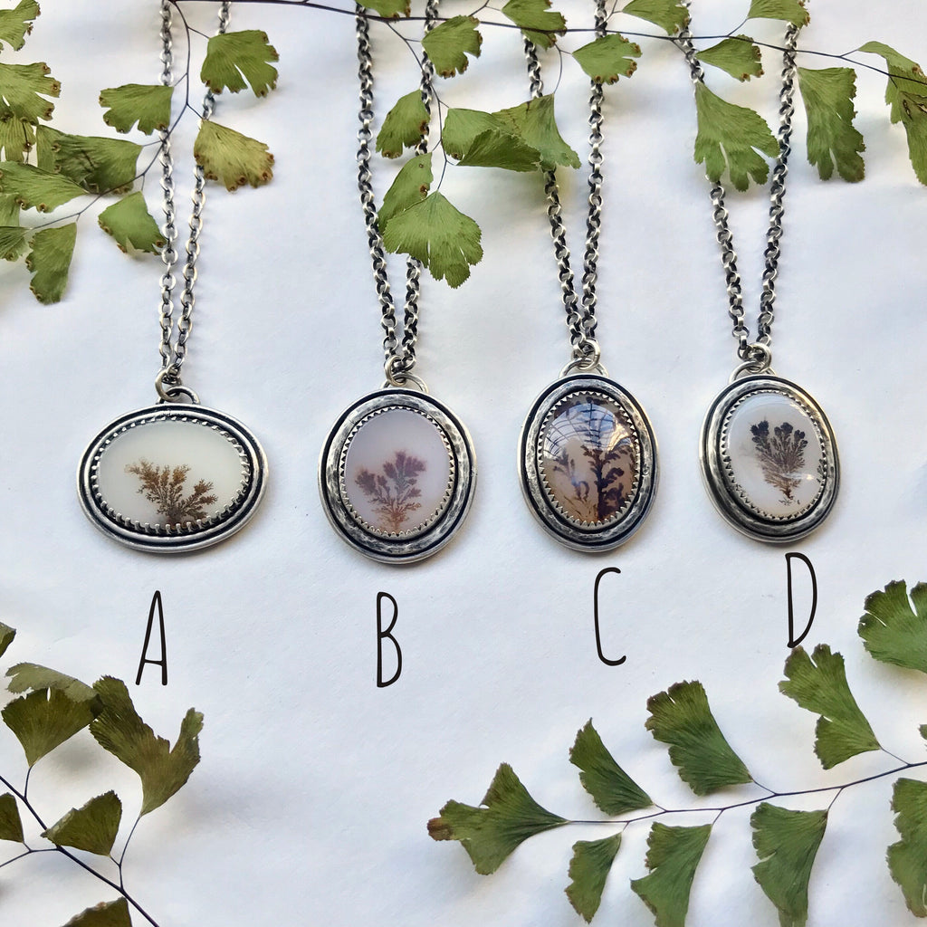 Dendritic Agate Pendants - Undergrowth Collection