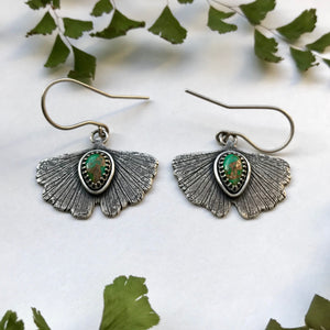 Silver Ginkgo Earrings - Undergrowth Collection