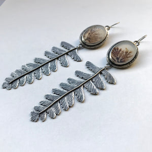 SALE Adiantum Fern Earrings - Undergrowth Collection