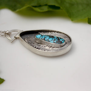 Treasure Mountain- Turquoise, Fine Silver and Sterling Silver Necklace