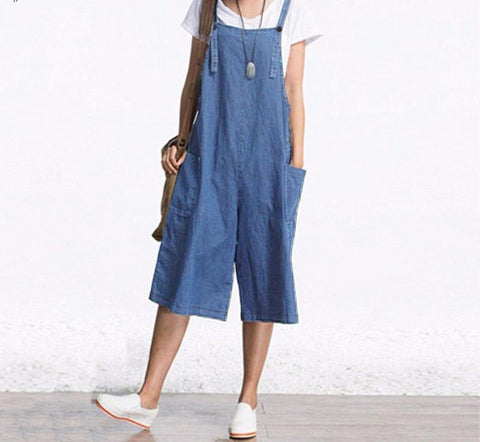 Denim Overall Shorts - FashionMongerPro-Bohemian, hippie and gypsy tribe