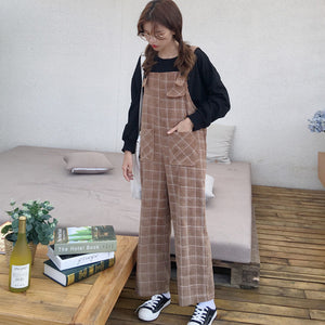 Jenna Checkered Overalls - FashionMongerPro-Bohemian, hippie and gypsy tribe