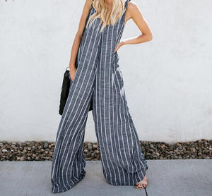 Believer Striped Jumpsuit - FashionMongerPro-Bohemian, hippie and gypsy tribe