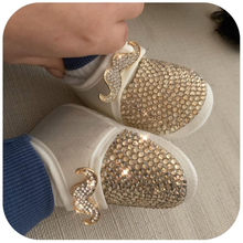 Load image into Gallery viewer, Crystals Mustache Baby Boy Shoes and Bow Tie