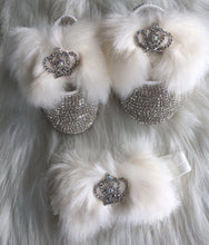 Load image into Gallery viewer, Faux Fur Babydoll Crystals Shoes And Headband
