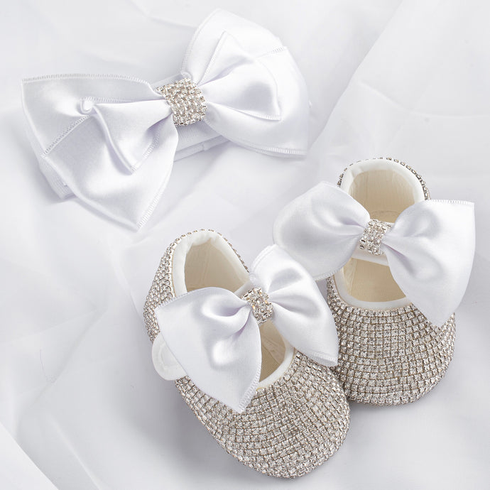 Baby Doll Crystal Shoes and Headband