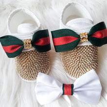 Load image into Gallery viewer, Baby Boy Crystal Shoes & Bow Tie