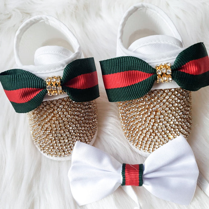 Baby Boy Crystal Shoes & Bow Tie
