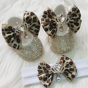 Royal Babydoll Crystals Shoes and Headband