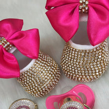 Load image into Gallery viewer, Baby Doll Crystal Shoes and Headband