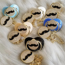 Load image into Gallery viewer, Mr. Mustache Paci & Clip Set
