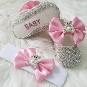 Teddy Bear Crystals Shoes and Headband