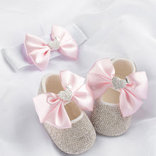 Load image into Gallery viewer, Queen Of Heart Babydoll Crystals Shoes and Headband