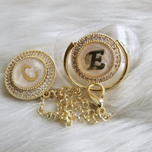 Load image into Gallery viewer, Initial Pearl Paci & Clip Set