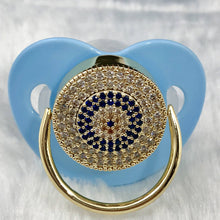 Load image into Gallery viewer, Pacifiers - Round Evil Eye Paci