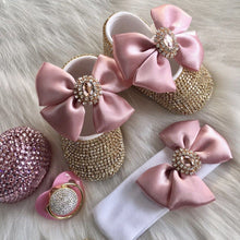 Load image into Gallery viewer, Royal Diamond Babydoll Crystals Shoes And Headband