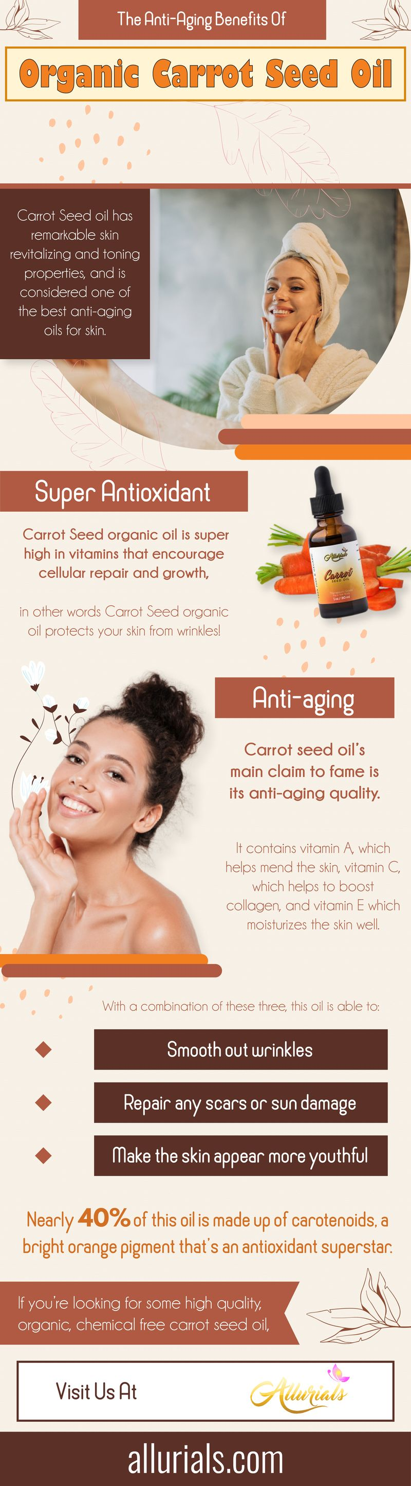 The Anti-Aging Benefits Of Organic Carrot Seed Oil