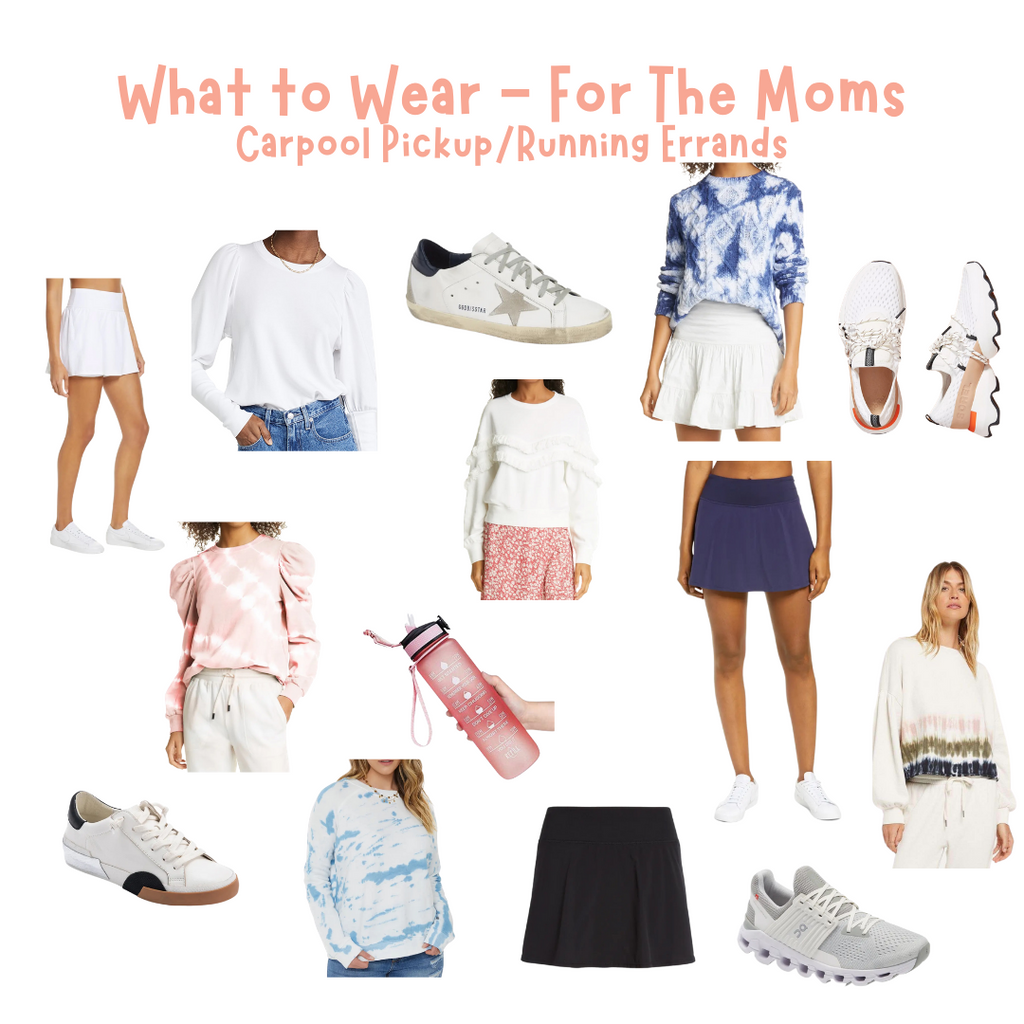 Carpool Pickup & Running Errands - What to Wear - For The Moms