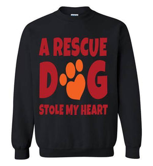 Gildan Crewneck Dog rescue Sweatshirt