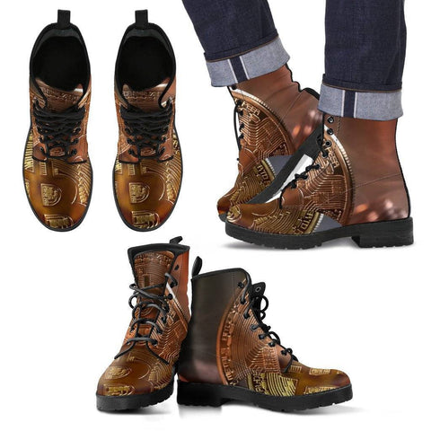 Image of BitCoin High Top Shoes  and Boots.
