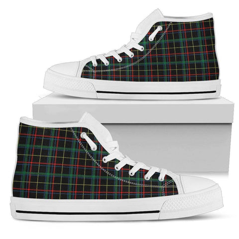 Men High top Plaid Shoes