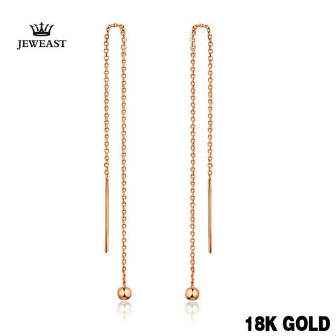 Vintage18k Pure Gold Drop Earrings