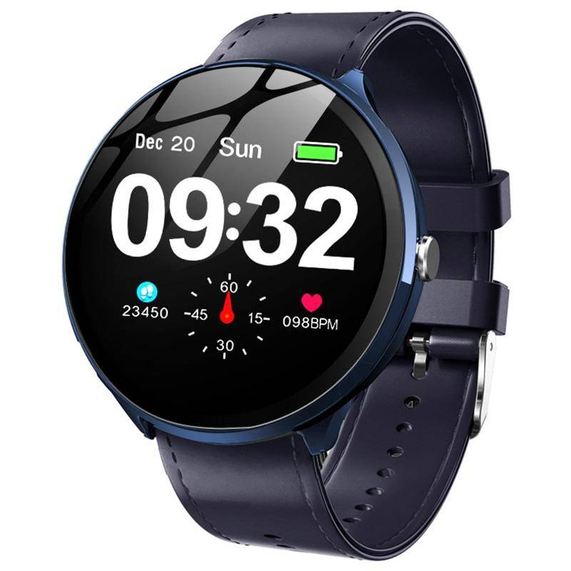 Blood Oxygen Monitoring Breathing Light Tempered Glass Leather Kospet V12W Heart Rate Smart Watch