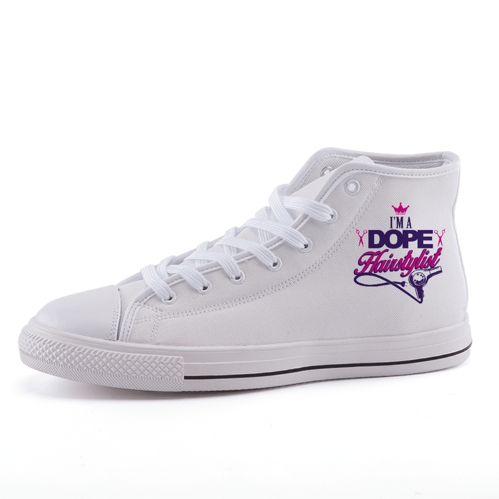 Dope Hairstylist High-top fashion canvas shoes