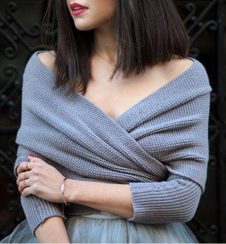 Image of Scarf Shawl with Sleeves