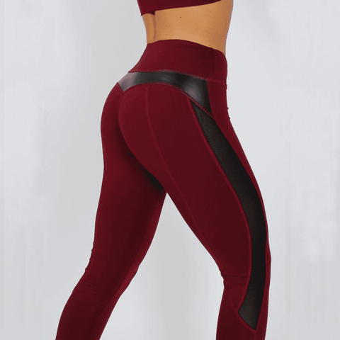 Image of Black Mesh Splice Fitness Leggings