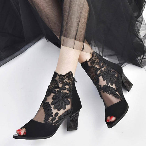 Mesh Heeled Shoes