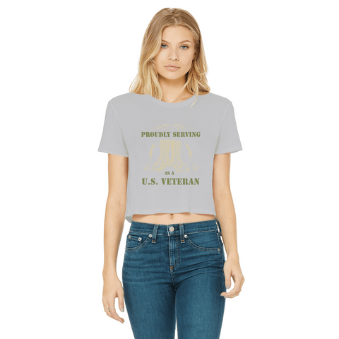 Image of ArmyVET Classic Women's Cropped Raw Edge T-Shirt