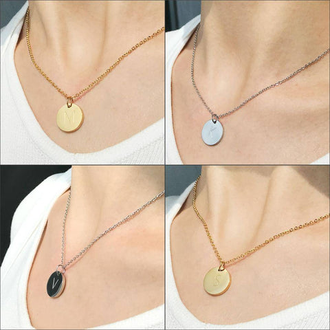 Image of Disc Pendant Necklace