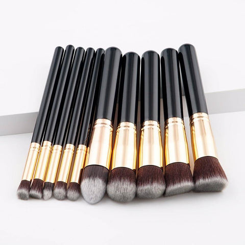 Professional  10pcs Foundation Makeup Brush