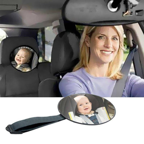 Image of Adjustable Car Safety Back Seat Rearview Mirror