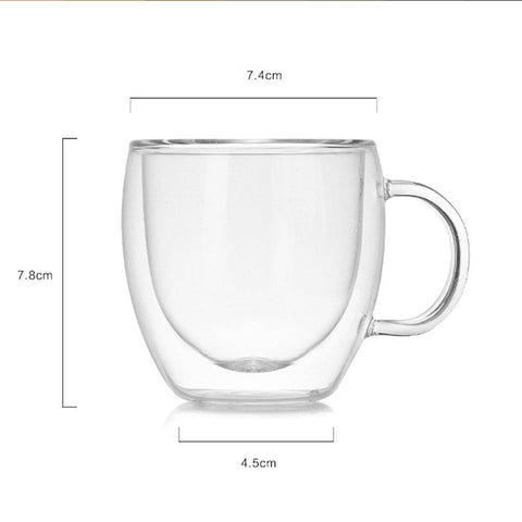 Double Glass Coffee Mug