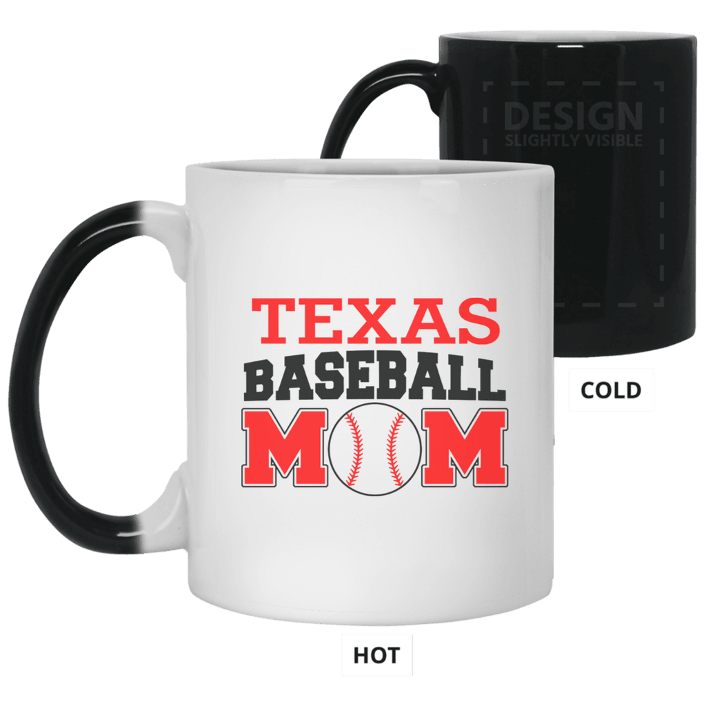 VF 11 oz. Texas Baseball Mom Color Changing Mug