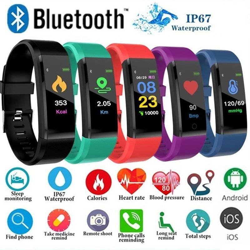 Outdoor Blood Pressure Heart Rate Monitoring Pedometer