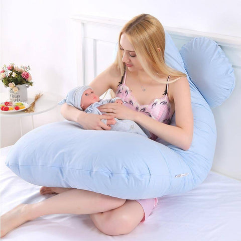 Image of Sleeping Support Pillow For Pregnant Women Body Cotton Pillowcase