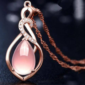 Rose Gold Fashion Women Crystal