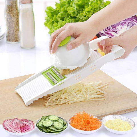 Image of 5 in 1 Stainless Steel Blade Vegetables Cutter