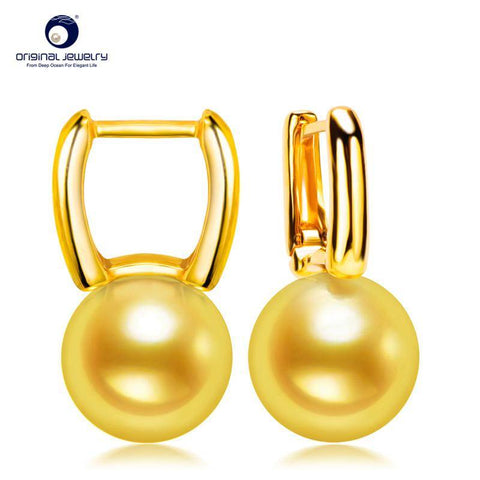 Genuine, Japanese Akoya 18k Gold Pearl Earrings 18k Gold