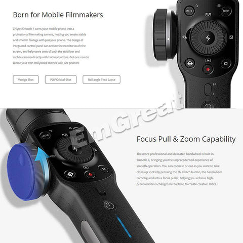 Image of Handheld Smartphone Gimbals Stabilizer for iPhone